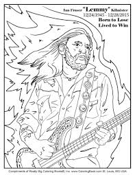 Coloring Books Ian Fraser Lemmy Kilmister Free Online Coloring Page