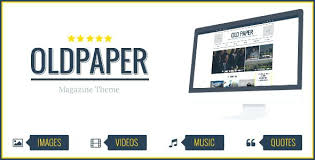 Video News Magazine Newspaper Theme Editorial Blog Online Template ...