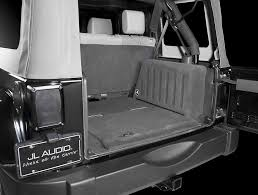 2011 2014 jeep wrangler and wrangler unlimited car audio profile custom fit jl audio subwoofer