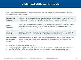 Additional Skills For Resume Awesome Personal Interests Examples Personal Interests On Resume Examples