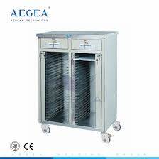 Hospital Chart Holder With Four Casters With Cross Brakes Stainless Steel Medical Chart Holder Price