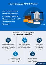change sbi atm pin through net banking