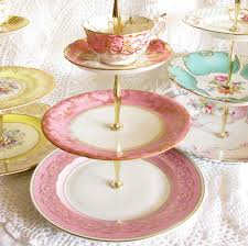 Cup And Saucer Display Stand Bright Pink Gold 100Tier Cupcake Stand Vintage China Plates with 77