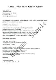 Objective For Resume For Child Care Daycare Assistant Resume Resume