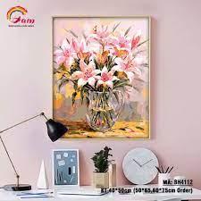 Tranh tự tô màu số hóa Gam Hoa huệ tây BH4112