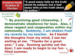 a good essay tells us the truth about its subject but a bad essay  by practicing good citizenship i demonstrate obedience for laws
