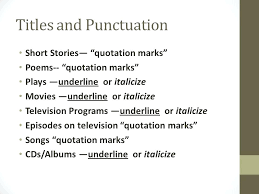 punctuation of titles essay title punctuation rules summary of  punctuation