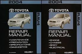 toyota rav repair shop manual volume set original