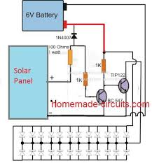 simple solar garden light circuit