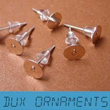 1000pcs 5usd whole platinum plate ear pin pairs stud earrings findings supplies back lock post pad