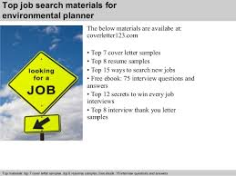 ... 5. Top job search materials for environmental planner ...