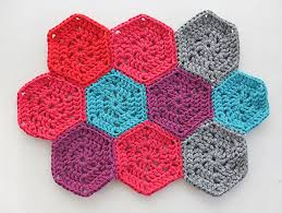 Hexagon Crochet Pattern Delectable How To Crochet Chunky Hexie Crochet Rug Pattern My Poppet Makes