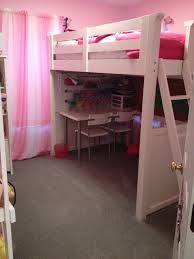 Loft Bed For Small Bedroom Small Space Solution 5 Year Old Girls Bedroom Complete With A