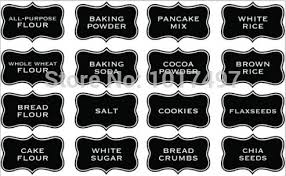 You will receive the clean label stickers , you can write on it with  chalkboard pen