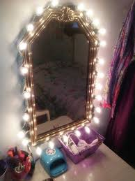 makeup mirror with lights for diy vanity mirror i made with a goodwill mirrorduct
