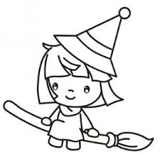Small Picture Witch Coloring Page