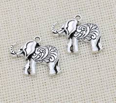 Silver Plate Pattern Chart Mik Antique Silver Plated Elephant Charm Pendants
