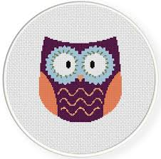 Owl Cross Stitch Pattern Inspiration Hippie Owl Cross Stitch Pattern Daily Cross Stitch