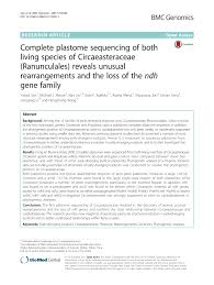 Smith And Kole Lighting Technology Pdf Complete Plastome Sequencing Of Both Living Species Of
