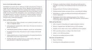 10 Sample Resume For Medical Assistant Job Description Medical