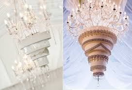 chandelier wedding cakes by ine nagorcka sculptress of cakes left and image right via fourseasons