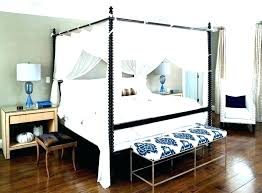 Black Wood Canopy Bed Wooden Canopy Bed En S Black Wood Frame With ...