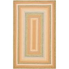 safavieh braided tan multi 4 ft x 6 ft area rug