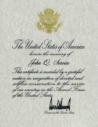 Military Certificate Of Appreciation Template Best Presidential Memorial Certificates National Cemetery Administration
