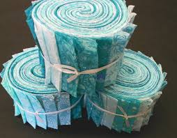 Aqua Jelly Roll Fabric Strips Turquoise Quilt Kit by SEW FUN & Like this item? Adamdwight.com