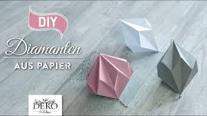 Diy Hübsche Papier Diamanten Selber Machen How To Deko Kitchen
