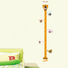 Wall Measuring Chart Animal Height Measurement Growth Chart Metric For Children