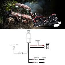 auxbeam wiring harness for led light bar 12v 40amp fuse relay on off auxbeam led light bar wiring harness auxbeam wiring harness for led light bar 12v 40amp fuse relay on off switch ( 2 lead 2 meter universal ), wire two light, wire two light