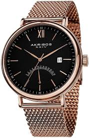 men s gold watches store akribos xxiv men s ak731rg essential gold watches for men akribos xxiv