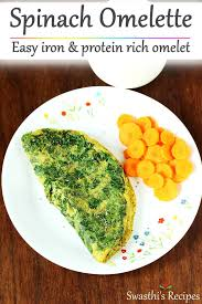 spinach omelette recipe palak omelet