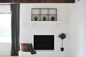 diy how to paint your brick fireplace the copper anchor