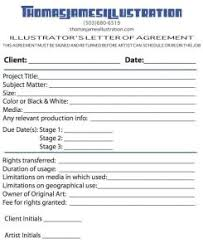 Sample Contract For Illustrators And Graphic Designers Escape From