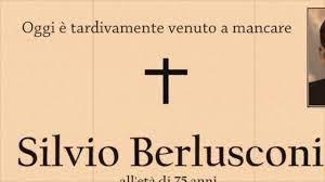Silvio Berlusconi è morto - YouTube
