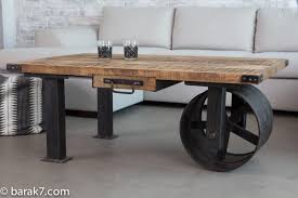vintage industrial furniture tables design. Vintage Industrial Coffee Tables Awesome Furniture With Wheels Push Pull  B Deerest Of Design E