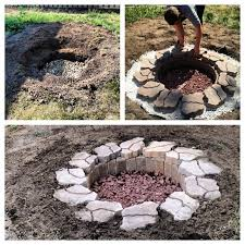 ideas for creating your own in ground fire pit
