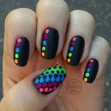 25 Cute Polka Dot Nail Designs | Art nails, Neon and Rainbows