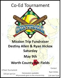 mission trip fundraiser the sylvester local africa flyer softball tour nt
