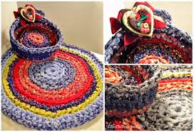 round and oval rag rugs and baskets show