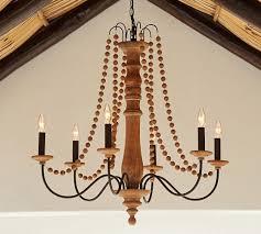 evelyn turned wood indoor outdoor chandelier