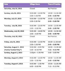 Free Summer Camp Schedule Template Calendar Daily Summer