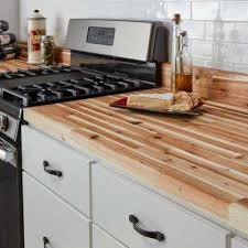 t butcher block countertop in unfinished acacia wood