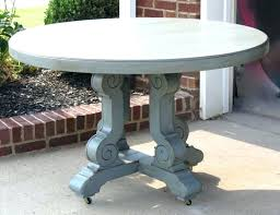 grey wood round dining table extravagant milk painted weathered distressed home interior with bench rustic d