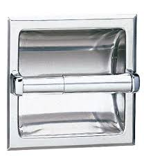 full bobrick toilet paper holder b 667 recessed tissue dispenser