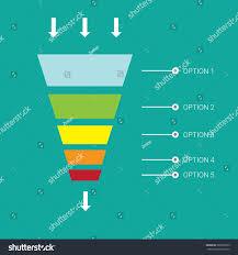 Web Design Sales Funnel Vector Infographic Web Design Template Vector Stock Vector