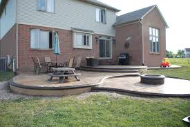 stamped concrete patio cost post