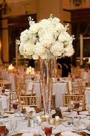 ... White Hydrangeas Roses Babies Breathe Tall Floral Tall Vase Centerpieces  Arrangements ...